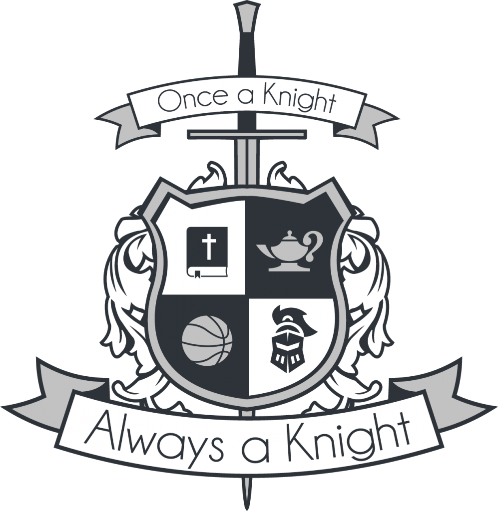 Lighthouse Christian School crest logo | Always a Knight